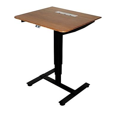 Fr sch Sit Stand Electric Portable Presentation Standing Desk; Black