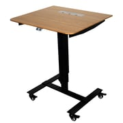 Fr sch Sit Stand Electric Portable Presentation Standing Desk; Black