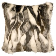 Wooded River Faux Fur Throw Pillow