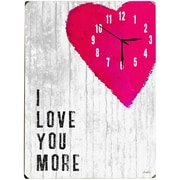 Artehouse LLC I Love You More Wall Clock