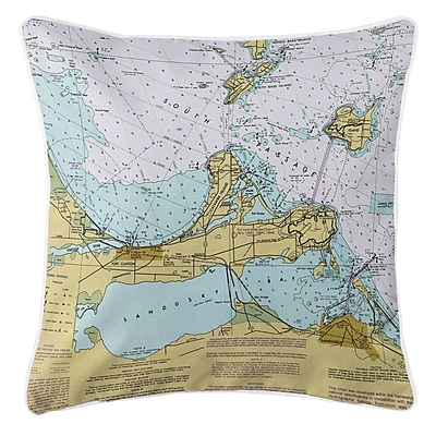 Longshore Tides Ellisburg Port Clinton, Sandusky, OH Throw Pillow