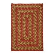 Homespice Decor Apple Pie Red Area Rug; Rectangle 8' x 10'