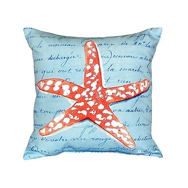 Betsy Drake Interiors Starfish Indoor/Outdoor Throw Pillow