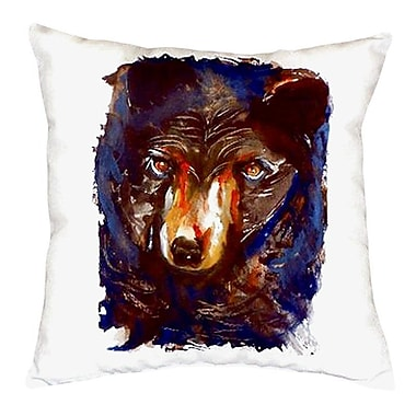 Betsy Drake Interiors Bear Indoor/Outdoor Throw Pillow