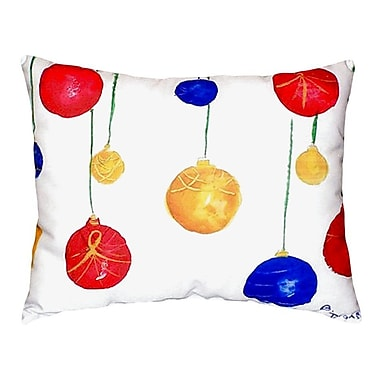 Betsy Drake Interiors Christmas Ornaments Indoor/Outdoor Lumbar Pillow
