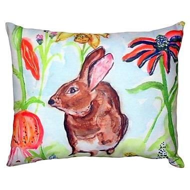 Betsy Drake Interiors Rabbit Indoor/Outdoor Lumbar Pillow