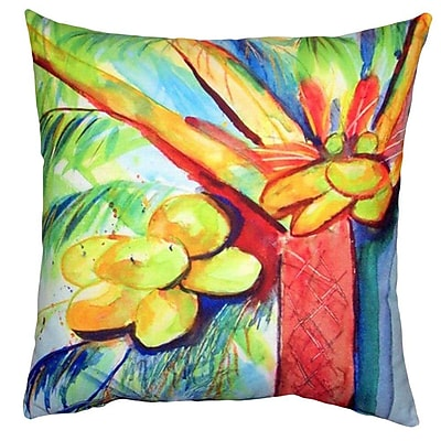 Betsy Drake Interiors Cocoa Nut Tree Indoor/Outdoor Throw Pillow