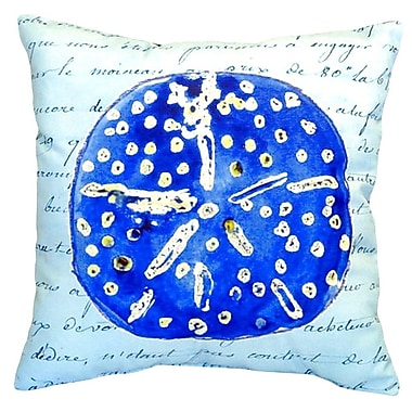 Betsy Drake Interiors Sand Dollar Indoor/Outdoor Throw Pillow