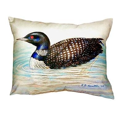 Betsy Drake Interiors Loon Indoor/Outdoor Lumbar Pillow