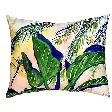 Betsy Drake Interiors Elephant Ears Indoor/Outdoor Lumbar Pillow