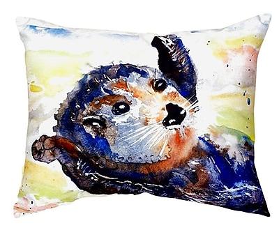 Betsy Drake Interiors Otter Indoor/Outdoor Lumbar Pillow