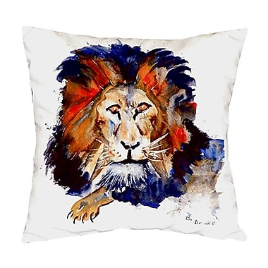 Betsy Drake Interiors Lion Indoor/Outdoor Throw Pillow