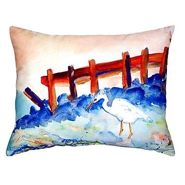 Betsy Drake Interiors Great Heron Indoor/Outdoor Lumbar Pillow