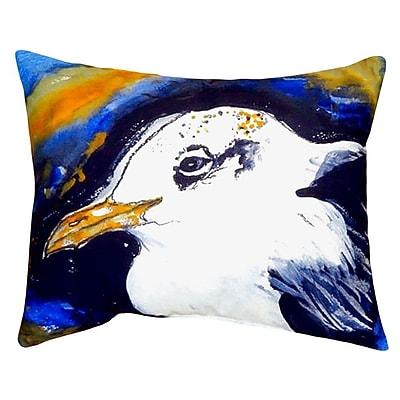 Betsy Drake Interiors Gull Portrait Indoor/Outdoor Lumbar Pillow