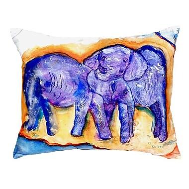 Betsy Drake Interiors Elephants Indoor/Outdoor Lumbar Pillow