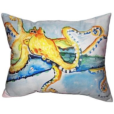 Betsy Drake Interiors Octopus Indoor/Outdoor Lumbar Pillow