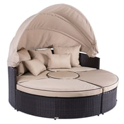Belleze 5-Piece Outdoor Daybed Set w/ Cushions