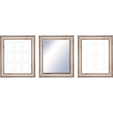 PTM 3 Piece Ingrid Wall Mirror and Picture Frame Set