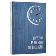 Artehouse LLC I Love You To the Moon Wall Clock