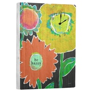 Artehouse LLC Be Happy Wall Clock