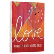 Artehouse LLC Love Unites Wall Clock