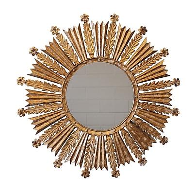 White x White Sunburst Wall Mirror