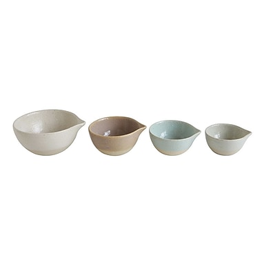 Creative Co-Op 4 Piece Stoneware Prep Bowl Set