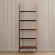 Charlton Home Williams 72'' Leaning Bookcase; Cherry