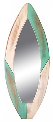 Great Big Photos Small Surfboard Wall Mirror; Aqua Green