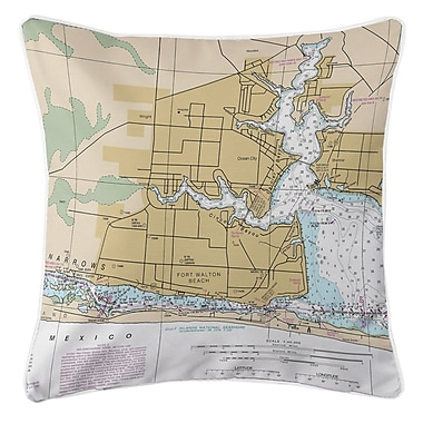 Longshore Tides Ellisburg Fort Walton Beach Throw Pillow