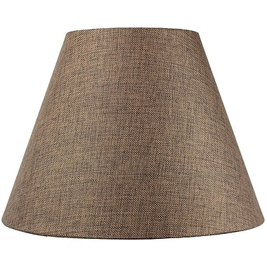 Home Concept 16'' Fabric Empire Lamp Shade; Chocolate