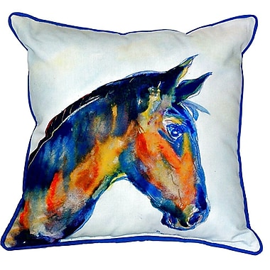 Betsy Drake Interiors Horse Indoor/Outdoor Throw Pillow; Large