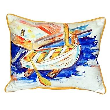 Betsy Drake Interiors Row Boat Indoor/Outdoor Lumbar Pillow; Small