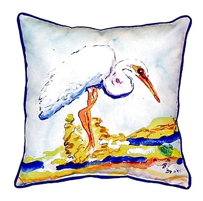 Betsy Drake Interiors Egret Indoor/Outdoor Throw Pillow; Large