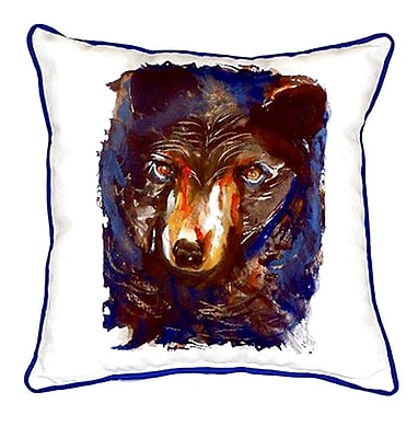 Betsy Drake Interiors Bear Indoor/Outdoor Throw Pillow; Large