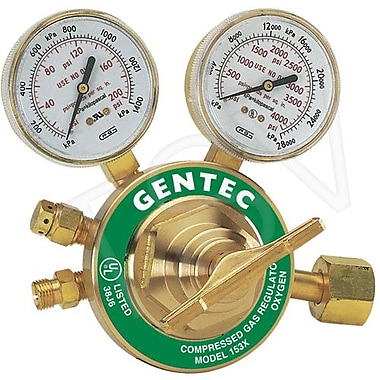 Gentec 153 Series Single Stage Regulators, Heavy Duty, Oxygen (153X-125)