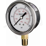 "Reed Pressure Gauge Bottom Connection, 0 - 15 PSI/0 - 100 kPa, 2-1/2"" (AVNC-15P)"
