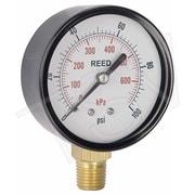"""Reed Pressure Gauge Bottom Connection, 0 - 15 PSI, 2-1/2"""", 3/Pack (LVBNA-15P)"""