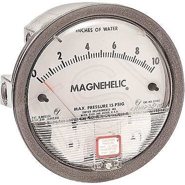 Dwyer Magnehelic Gauges, Manometer 1-0-1