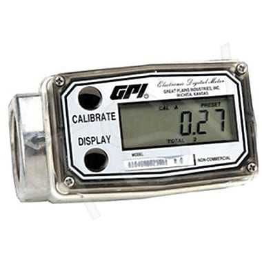 GPI Flow Totalizers, Aluminum, 0.3 to 3 GPM Total (A109GMA025NA1)