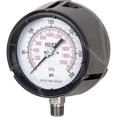 Reed Process Gauge, 0 - 15 PSI/0 - 100 kPa, 1/4