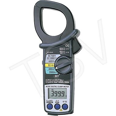 Kyoritsu AC DC Clamp Meter With Large Diameter Jaws, 2000 AC/DC (KEW2003A)
