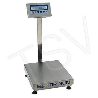 Kilotech Top Gun Electronic Platform Scales, 150 kg/300 lb, Legal (880504)