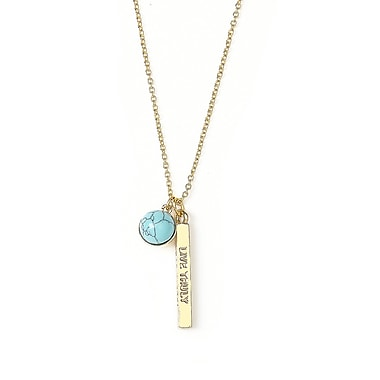 Foxy Originals Wanderlust Live Truly Necklace, Gold/Blue
