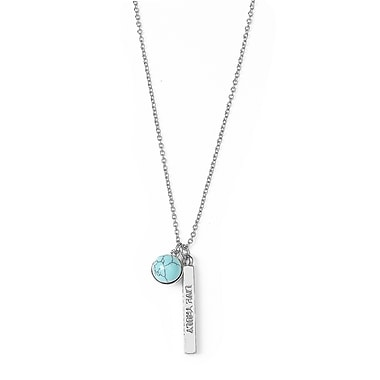Foxy Originals Wanderlust Live Truly Necklace, Silver/Blue