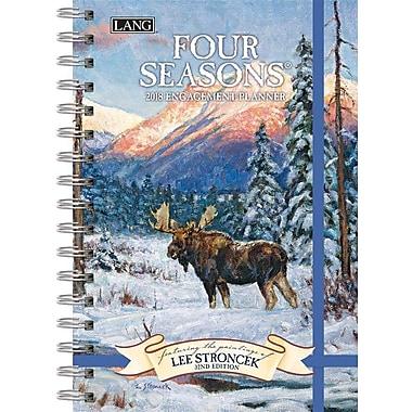 Lang 2018 Four Seasons Spiral Engagemant Planner, January-December Format