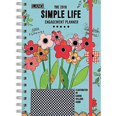 Lang 2018 Simple Life Spiral Engagemant Planner, January-December Format