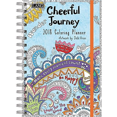 Lang 2018 Cheerful Journey Colouring Planner, January-December Format