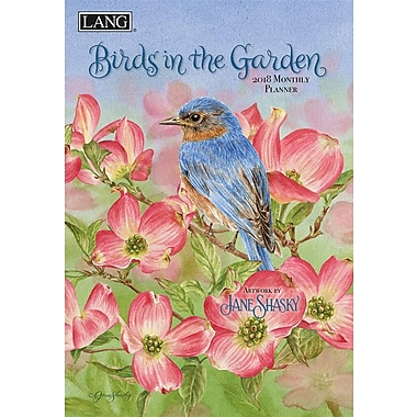 Lang 2018 Birds In The Garden Monthly Planner, 13 Month Format. January 2018- January 2019