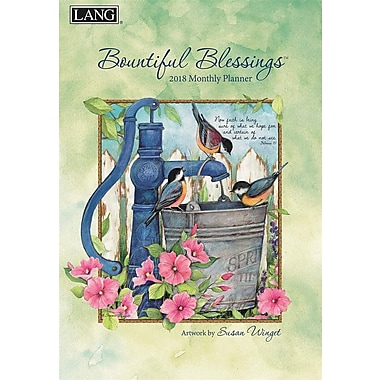 Lang 2018 Bountiful Blessings Monthly Planner, 13 Month Format. January 2018- January 2019